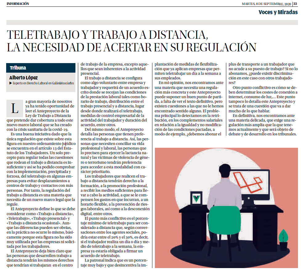 Galán & Asociados Teletrabajo ALberto López